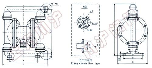 qby气动隔膜泵 结构简图